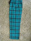 Boxercraft Teal and Black Flannel Pants size Youth Small (6-8)