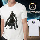 Men cotton overwatch logo cool reaper  white Tshirt Crew Neck Short Sleeve tee