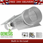"600W Cool Tube Light Air Cooled Double Reflector HID MH 5"" & 6"" inch 4m IEC LEAD"