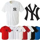NewYork NY Yankees Baseball Stripe Open Tshirts sports wear Jersey shirt Top D0