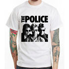 The Police band vintage 80s style rock Unisex white t-shirt
