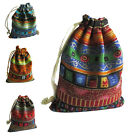 10Pcs Drawstring Jewelry Pouches Cotton Gift Bags Wedding Favors GT
