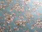 Antique Blue Flower design OILCLOTH TABLECLOTH PLASTIC COATED FABRIC
