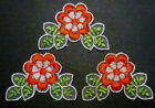 Red Flower Lace Patch Neckline Appliques Sew on 55