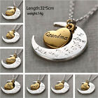 Best Gift Family I LOVE YOU TO THE MOON AND BACK Necklace Charm Pendant UK80