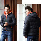 Fashion New Men's Casual Jacket Coat Hooded Padded Jacket Casual Thick Outwear