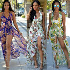 Sexy New Women Floral Summer Beach Boho Party Evening Maxi Long Dress Sundress