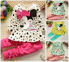 baby Girls 100% cotton girls spring Clothes  long sleeve Top+pants cartoon bow