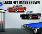 1965 Ford Mustang Fastback 289 hp Wall Poster Decal Man Cave Graphics Garage