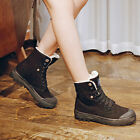 Womens Winter Lace Up Flat High Top Suede Riding Ankle Boots Sport Snow Shoes