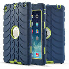 Rubber Anti-shock Proof Heavy Duty Builders Case Cover For iPad 2 3 4/Mini 1 2 3