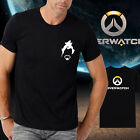 Men new cotton OW overwatch logo Hanzo Black Tshirt Crew Neck Short Sleeve tee