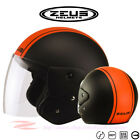ZEUS ZS-506D 506W Motorcycle Scooter Retro Helmet Aero Jet DOT Safety Approved