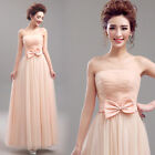 L381 New Pink Formal Wedding Prom Party Bridesmaid Evening Ball Gown Dress