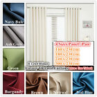 Quality Eyelet Top Thermal Curtain Linen 85% Blockout Curtains 4 Size Panel Pair