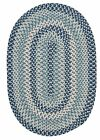 Boston Common Oval Braided Rug, Capeside Blue ~ Made in USA