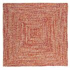Catalina Indoor Outdoor Square Braided Rug, Fireball ~ Made in USA