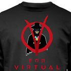 "Nukular Langarmshirt""V for Virtual"" Vendetta Reality VR Headset PS Anonymous"