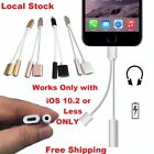 2 in 1 Lightning 3.5mm Headphone Adapter Audio jack Charging for iPhone 7 / 7+