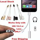 2 in 1 Lightning 3.5mm Headphone Adapter Audio jack Charging for iPhone® 7 / 7+