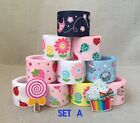 "10YDs Mixed 7/8""&1""Grosgrain Ribbon Bow Cupcake Lollipop Sunflower Scrapbook Lot"