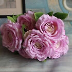 7Heads Artifical Silk flower European Fall Peony Fake Leaf Wedding Home Decor