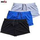 Men Bodybuilding Shorts Fitness Gym Clothing Casual Cotton Solid Outdoor Muscle