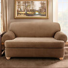 Sure Fit Stretch Stripe T-Cushion Love Seat Cover - 2 Piece