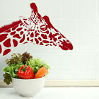 GIRAFFE HEAD ANIMAL LARGE WALL ART DECAL STICKER GRAPHIC TRANSFER MURAL NEW RA13