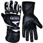 Motorbike Motorcycle Gloves Racing With Carbon Knuckles Genuine Leather Gloves
