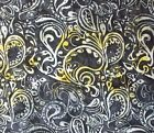 Paisley Batik Tonga Quilt Fabric Black Timeless Treasures Quilting FQ, BTHY, BTY