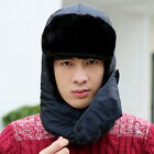 Men Winter Warm Trooper Hat Trapper Ski Cap With Windproof Mask Aviator Ear Flap