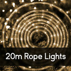 20M LED Rope Christmas Lights Multi Flashing 8 Function Outdoor Wedding Party