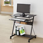 Coaster Contemporary 2-Shelf Metal Computer Desk with Sliding Keyboard Drawer