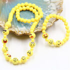 3D Emoji Funny Face Children kids Jewelry Set Emoji Beads Bracelet+Necklace Gift