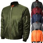 Mens Bomber Jacket Winter Flight Military Air Force MA-1 Tactical Premium