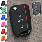 FIT FOR VW GOLF 7 SKODA OCTAVIA 2014- SEAT SILICONE FLIP KEY COVER HULL CASE