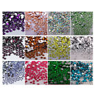 1440pcs 2/3/4/5/6mm Faceted Crystal Rhinestone Half Round Flatback Beads gt