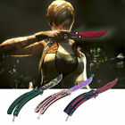 Practice Folding Metal Butterfly Style Tactical Combat Trainer Knife Trainer SM