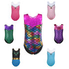 New Sparkle Gymnastics Leotards Girls Ballet Dance Skate Tank Bodysuit 3-12Y