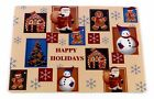 Happy Holidays Vinyl Placemat with Non-Slip Foam Backing