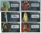 2016 Topps Star Wars Attack Clones 3D Widevision Silver Autograph Card #ed / 25