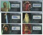 2016 Topps Star Wars Attack Clones 3D Widevision Silver Autograph Card #ed / 25 $249.95 USD on eBay