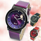 New Fashion Women Leather Watch Stainless Steel Sport Analog Quartz Watches