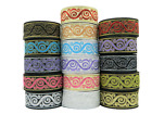 10m Jacquard Ribbon/Trim Swirl  33mm width Various colours available