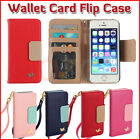 Genuine Leather Wallet Card Holder Flip Case Cover for iPhone 6 Plus 5S& Samsung