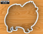Pomeranian Dog Cookie Cutter, Selectable sizes