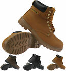 NEW MENS MAXSTEEL LIGHTWEIGHT SAFETY LEATHER STEEL TOE CAP WORK BOOTS SHOES SIZE