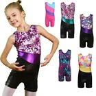 Little Girls Gymnastics Leotards Kid Shiny Ballet DanceTraining Costume 3-15Y