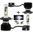 2x CSP H4 Hi/Lo 9003 HB2 6000LM LED Car Headlight Kit Double Beam Bulbs 6000K